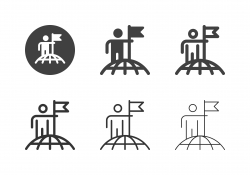 Successful Global Business Icons - Multi Series
