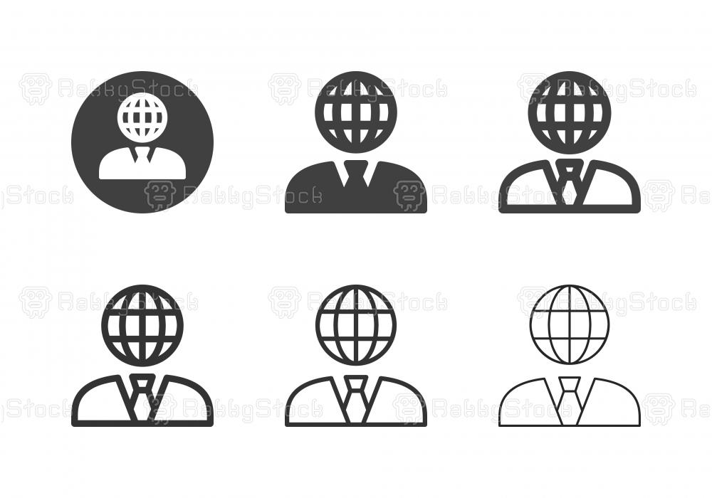 Global Businessman Icons - Multi Series