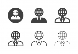 Global Businessman Icons - Multi Series