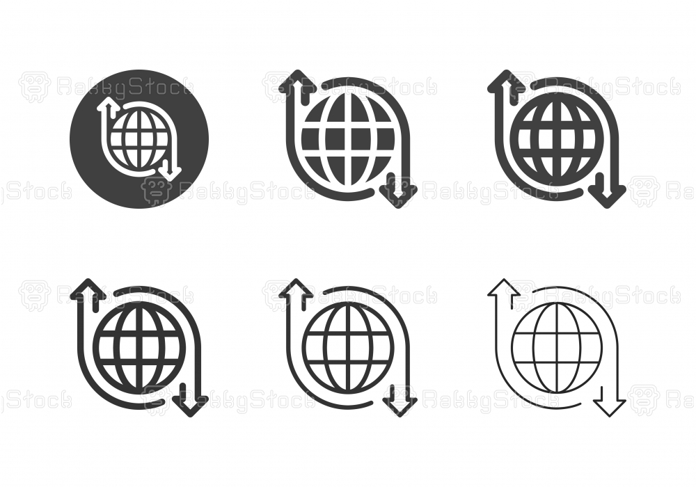 World Economy Growth Icons - Multi Series