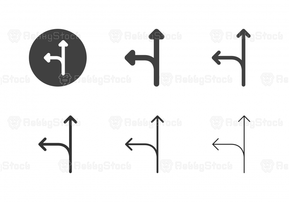 Arrow Direction Icons 3 - Multi Series