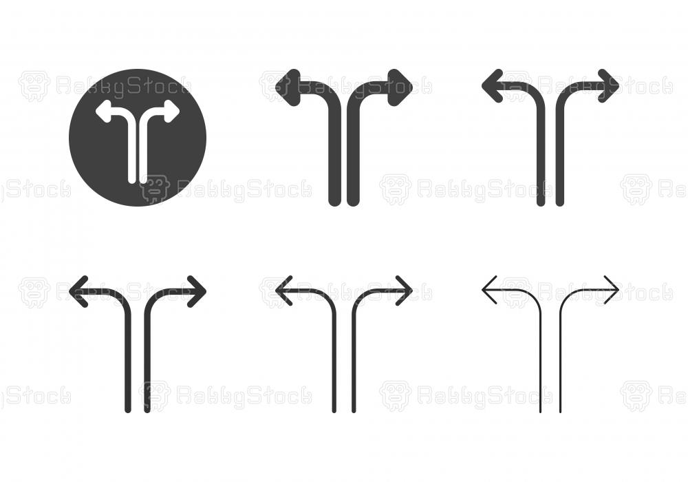 Arrow Direction Icons 8 - Multi Series