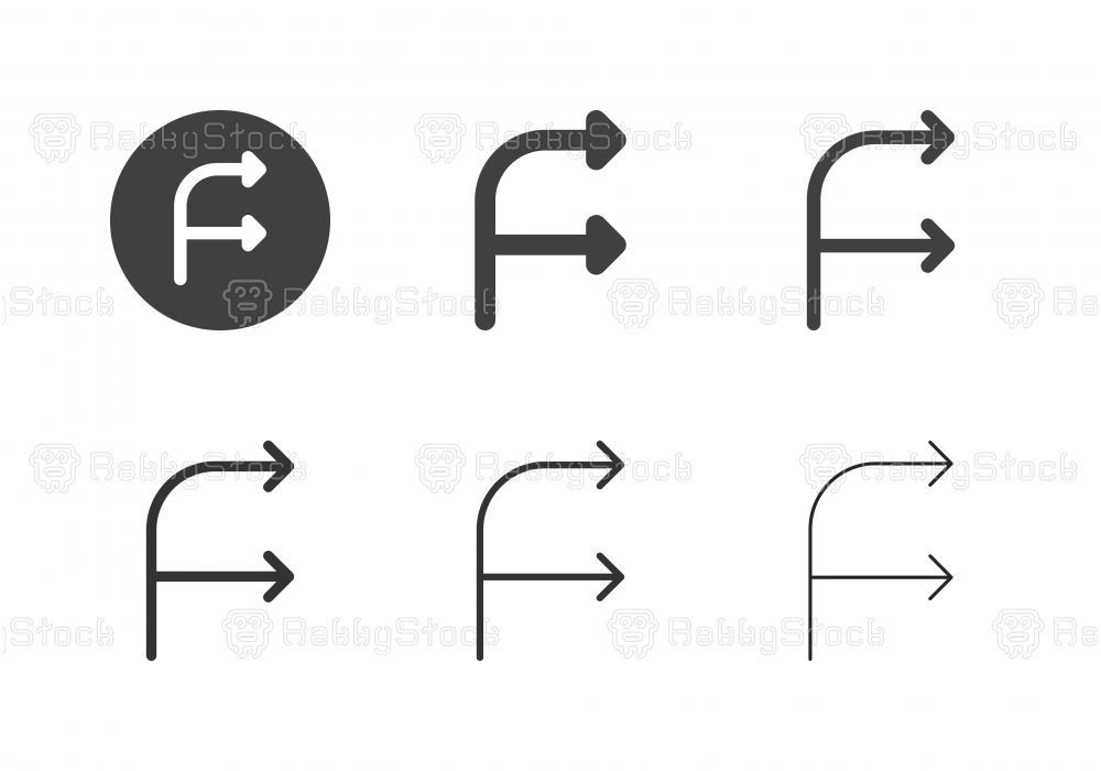 Arrow Direction Icons 9 - Multi Series