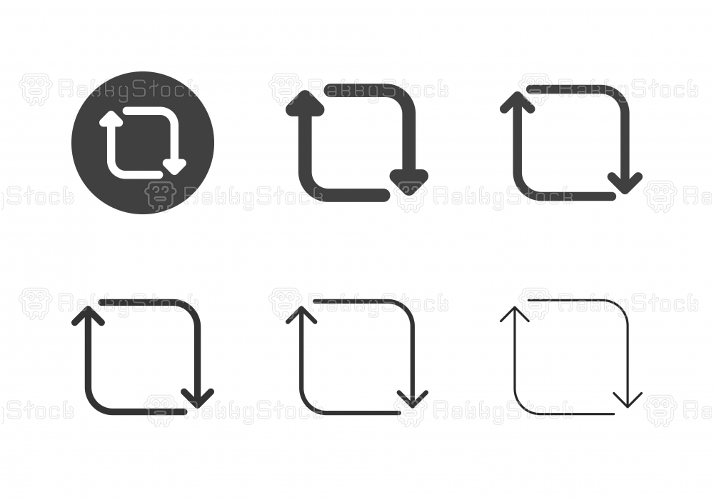 Arrow Direction Icons 15 - Multi Series