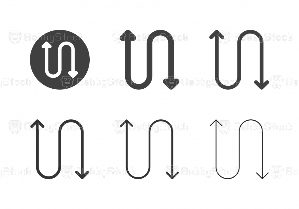 Arrow Direction Icons 16 - Multi Series