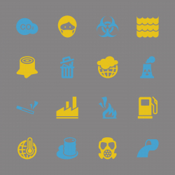 Pollution Icons - Color Series | EPS10