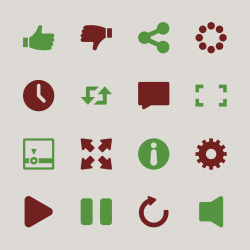 Video Streaming Player Icons - Color Series | EPS10