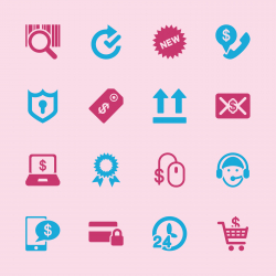 Online shopping Icons - Color Series | EPS10