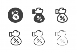 Financial Interest Bag Icons - Multi Series