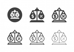 Financial Balance Icons - Multi Series