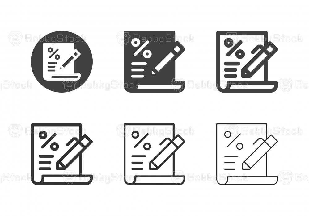 Loan Agreement Icons - Multi Series