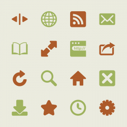 Web Browser and Intenet Icons - Color Series   EPS10
