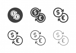 Money Exchange Icons - Multi Series