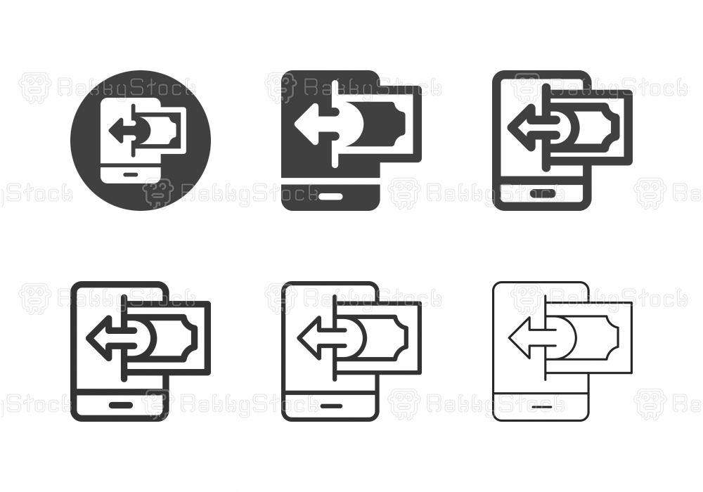 Mobile Payment Receiving Icons - Multi Series
