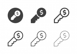 Dollar Key Icons - Multi Series