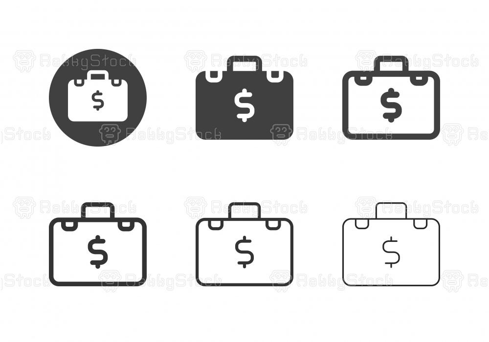 Financial Briefcase Icons - Multi Series