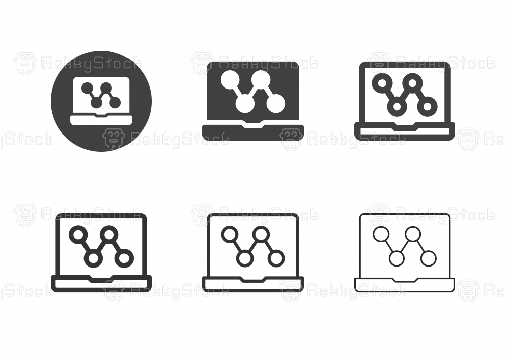 Laptop Sharing Icons - Multi Series