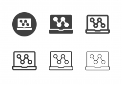 Laptop Sharing Icons - Multi Series