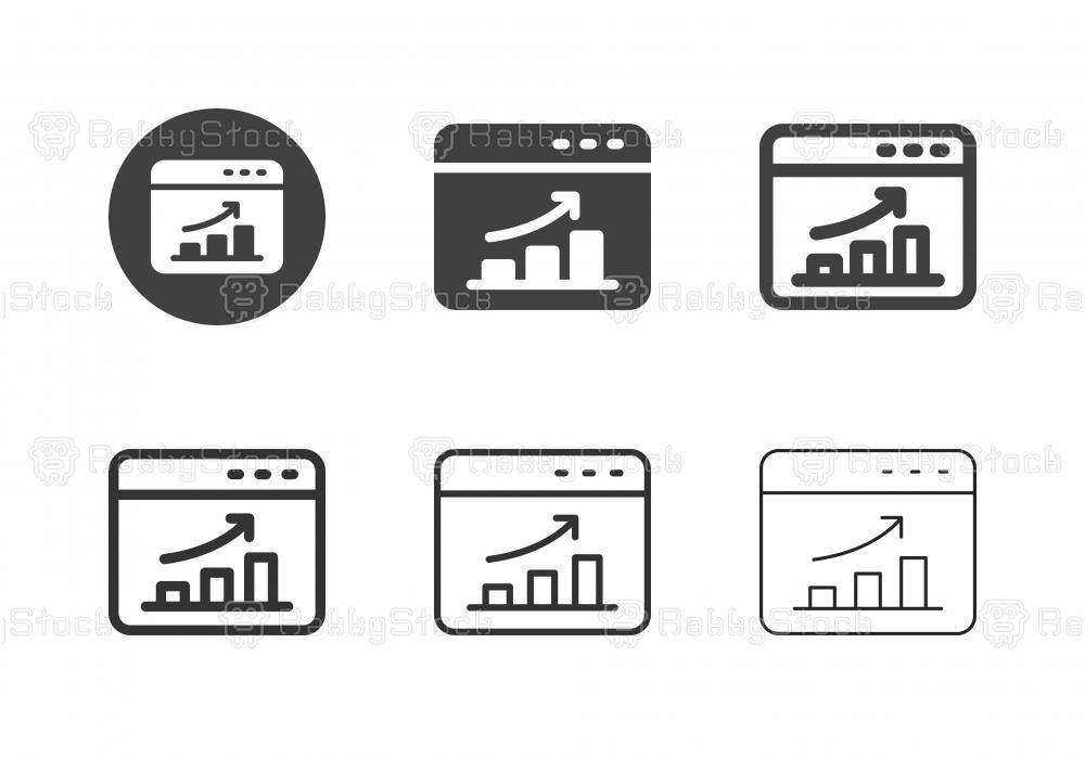 Web Analyzing Icons - Multi Series