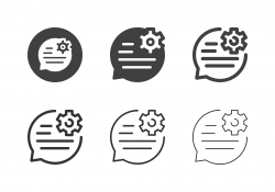 Speech Edit Icons - Multi Series
