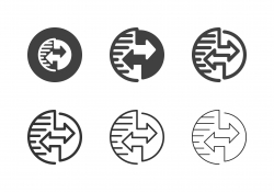 Global Data Transfer Icons - Multi Series