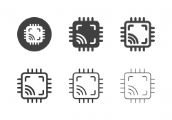 Computer Chip Icons - Multi Series