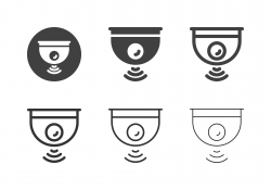 Wireless Camera Icons - Multi Series