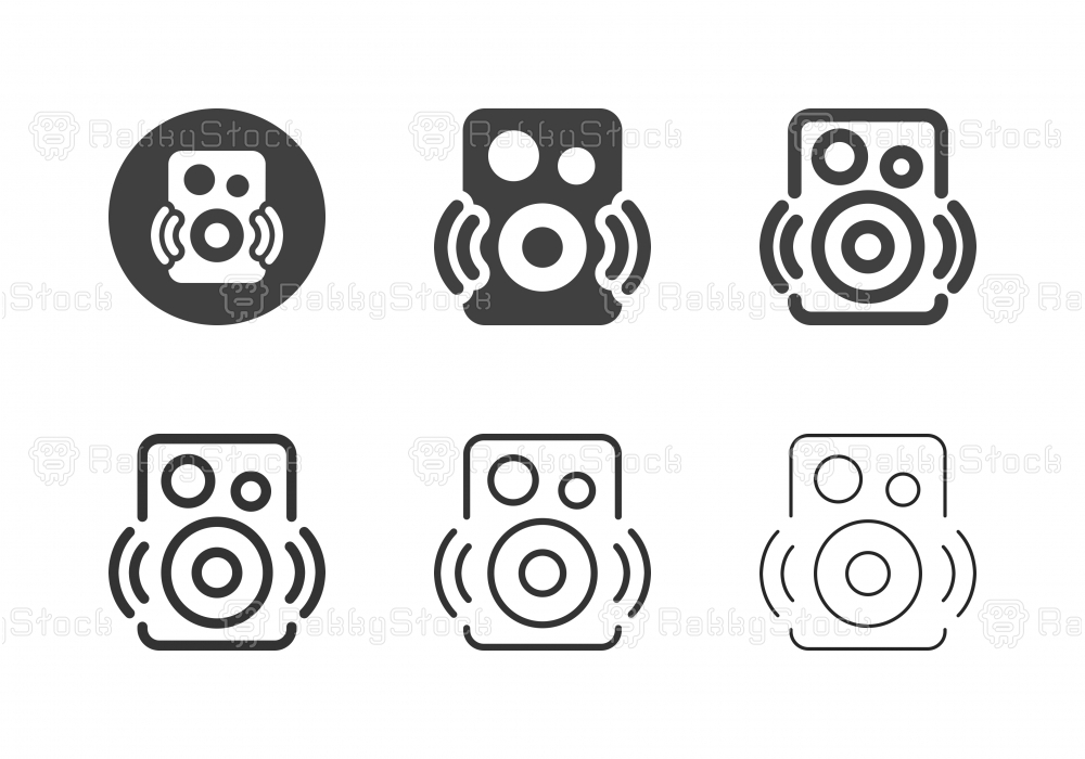 Bluetooth Speaker Icons - Multi Series