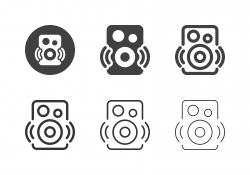 Bluetooth Speaker Icons - Multi Series