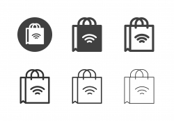 Online Shopping Bag Icons - Multi Series