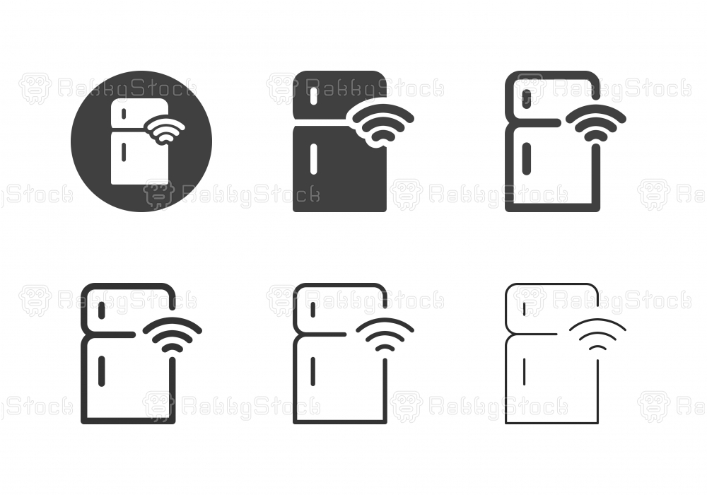 Smart Refrigerator Icons - Multi Series