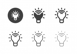 Smart Light Bulb Icons - Multi Series