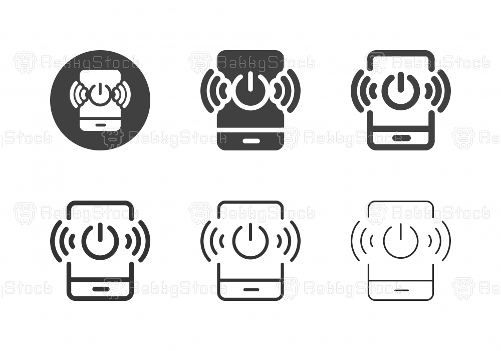 Mobile Wireless Technology Icons - Multi Series