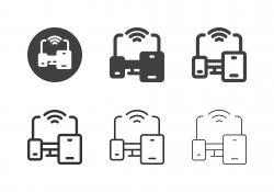 Portable Wireless Device Icons - Multi Series