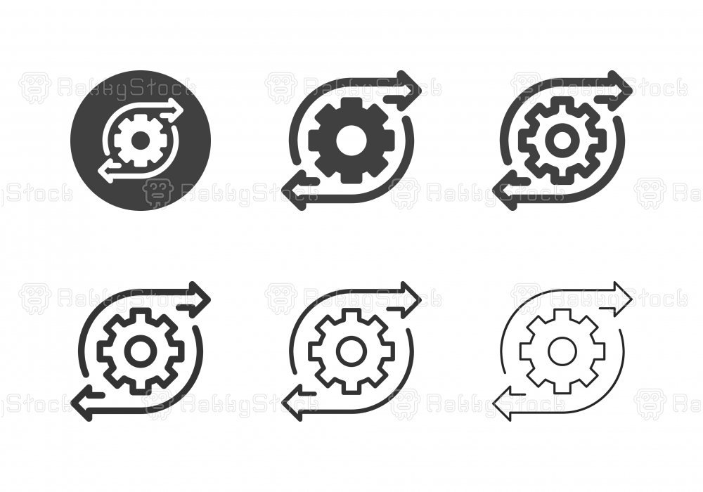 Gear Direction Icons - Multi Series