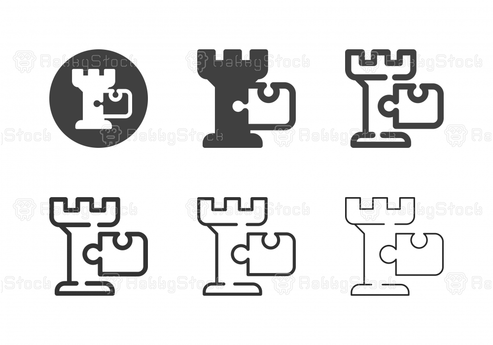 Chess with Puzzle Icons - Multi Series