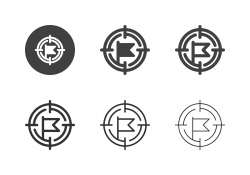 Flag Target Point Icons - Multi Series