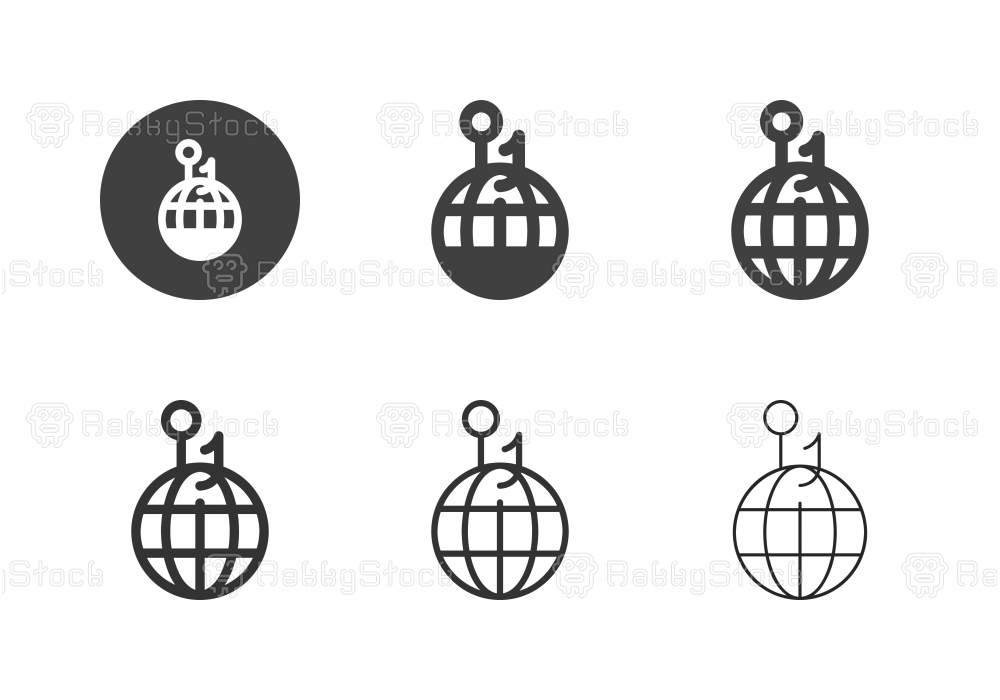 Global Business Strategy Icons - Multi Series