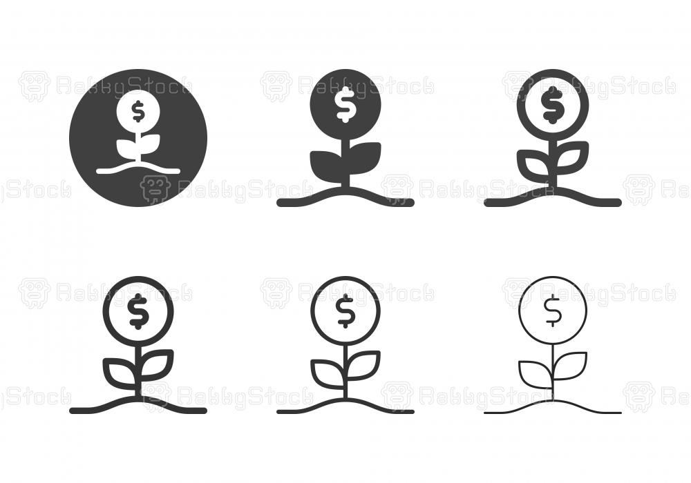 Dollar Flower Icons - Multi Series