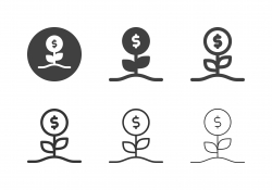 Dollar Flower Icons - Multi Series