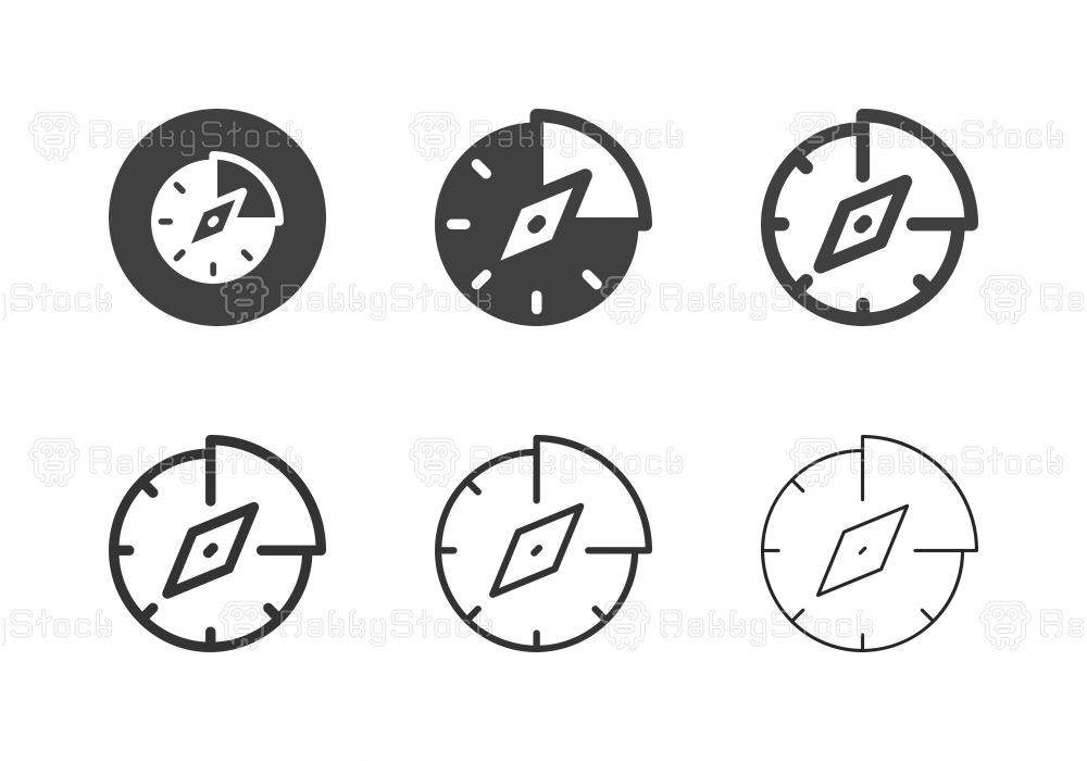 Business Compass Icons - Multi Series