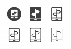 Mobile Direction Icons - Multi Series