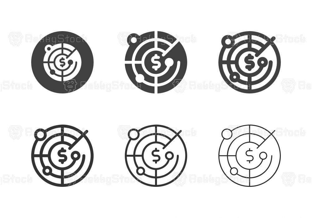 Money Radar Icons - Multi Series