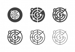 Money Radar Icons - Multi Series