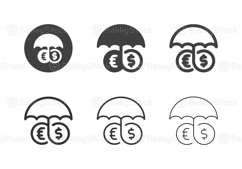 Currency Insurance Icons - Multi Series