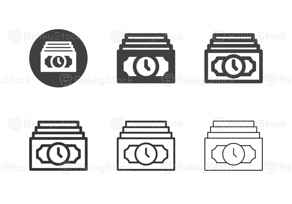 Money Time Icons - Multi Series