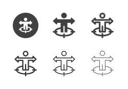 Human Target Direction Icons - Multi Series