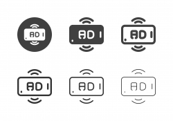 Mobile Advertising Streaming Icons - Multi Series