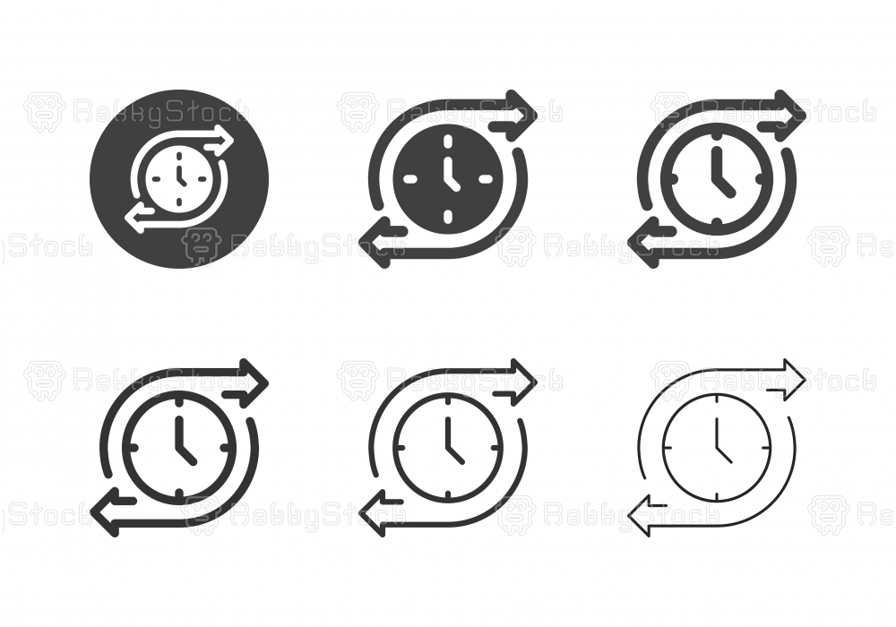 Time Flow Icons - Multi Series