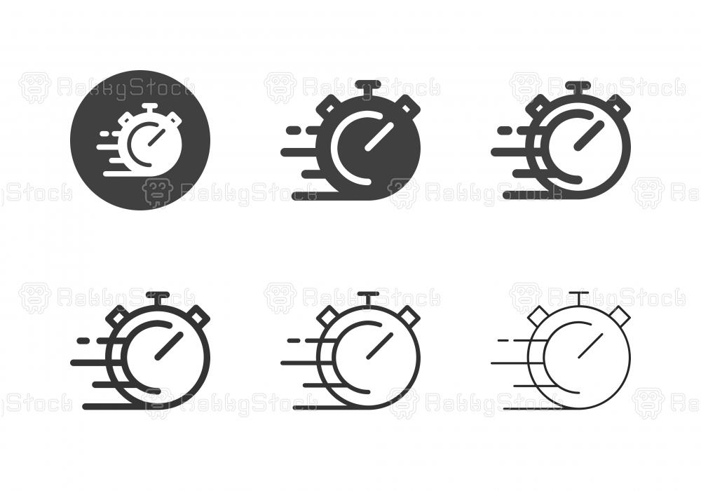 Stop Speed Icons - Multi Series